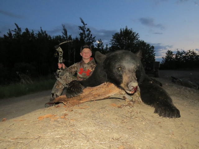 Bear of the year shot by this 12 year old hunter!