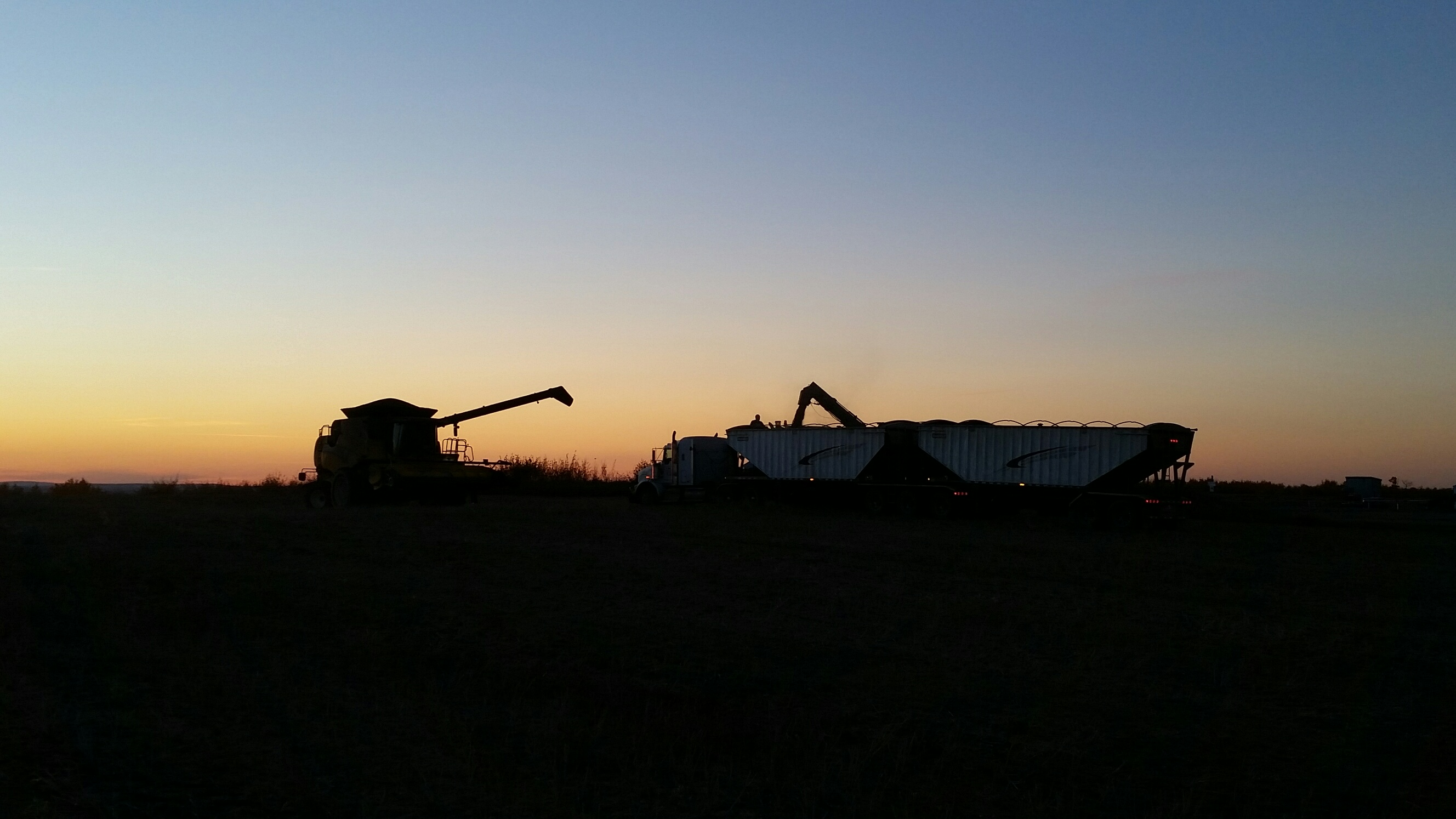 Unloading at sunset