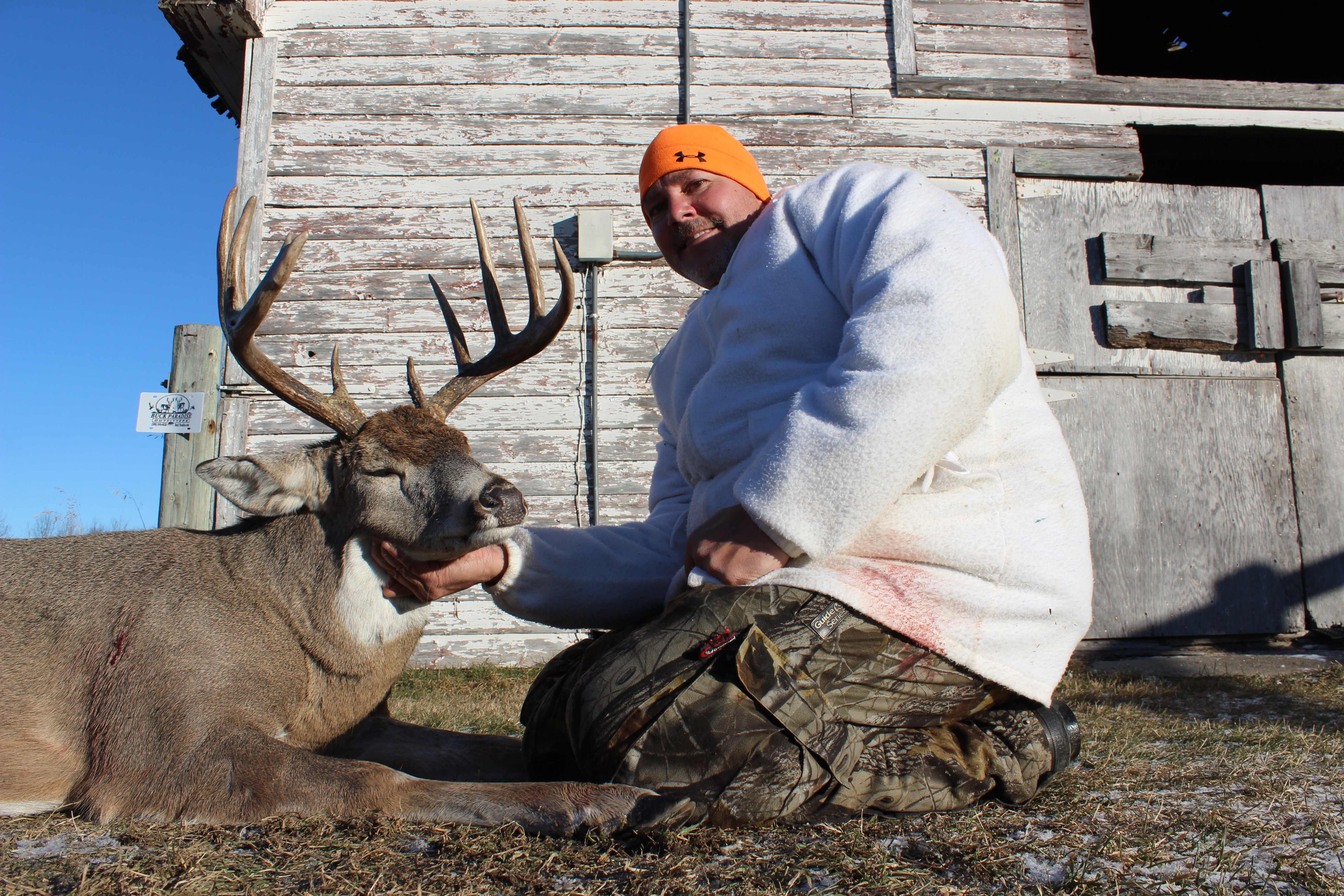 Corey and his buck for 2015