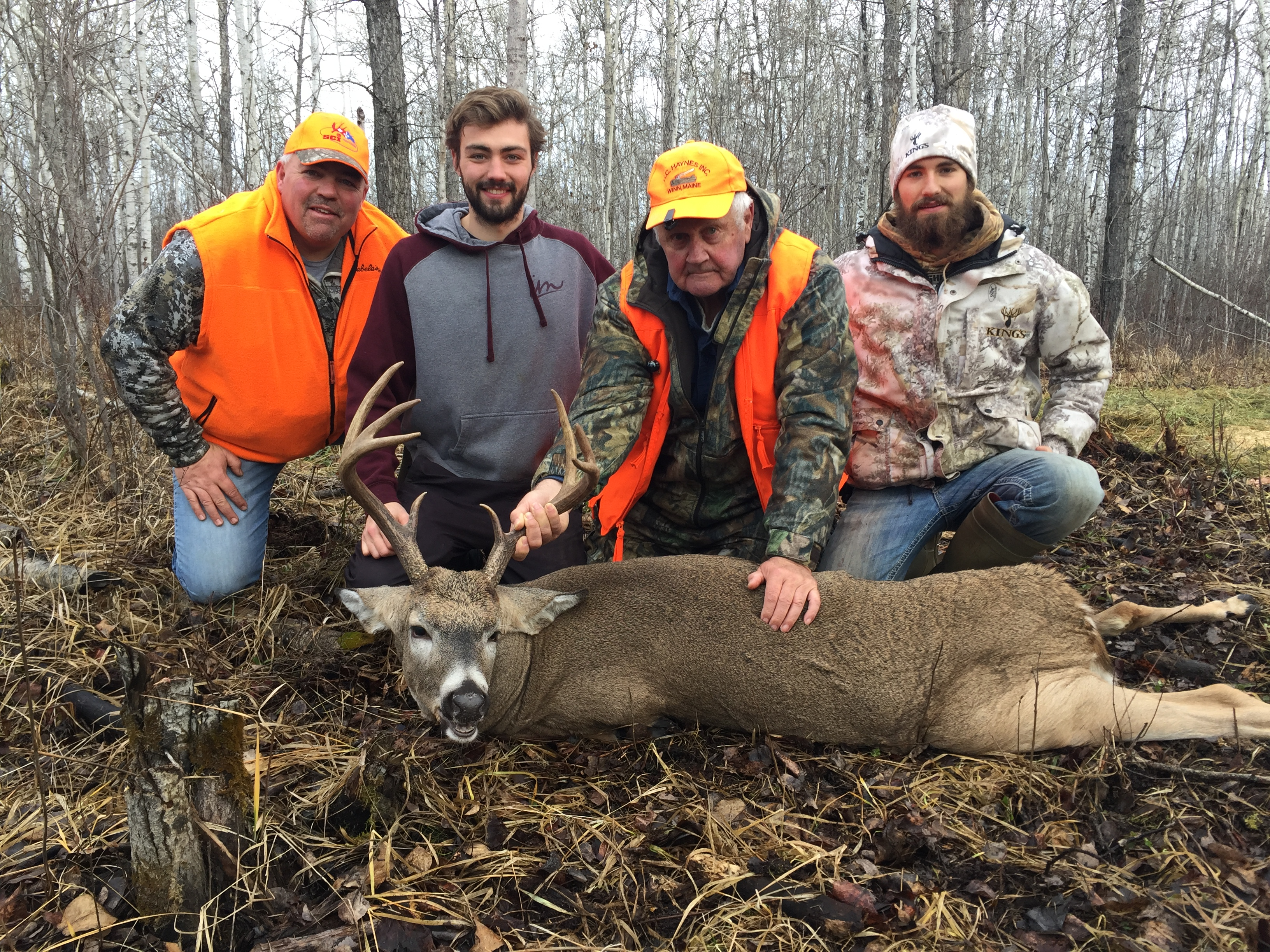 The tracking crew. Great job Jared on finding Stu's Buck
